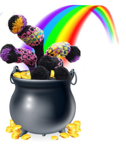 Pot of ClubSox at end of Rainbow